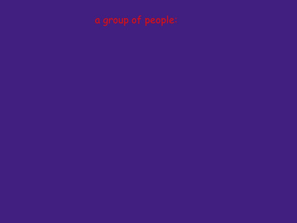 a group of people: