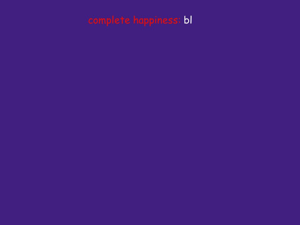 complete happiness: bl