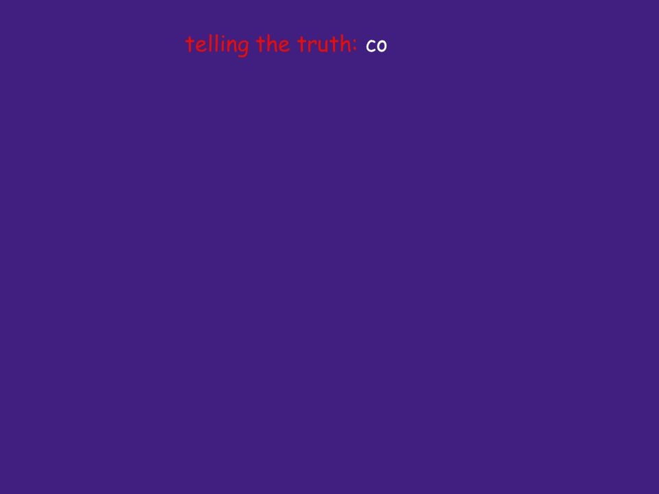telling the truth: co