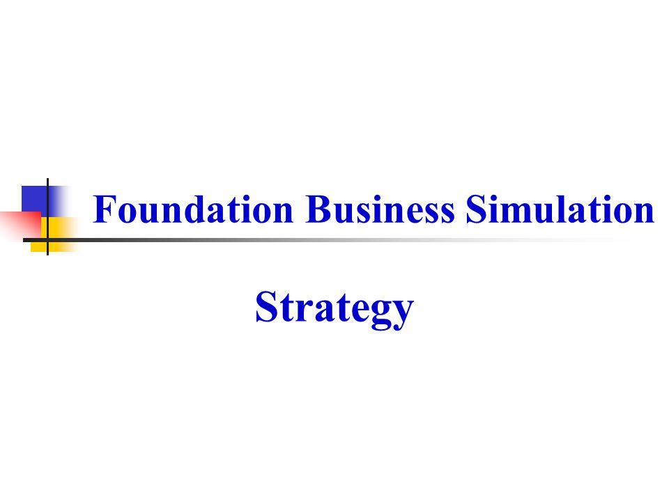 Foundation Business Simulation Strategy
