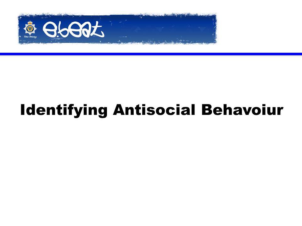 Identifying Antisocial Behavoiur