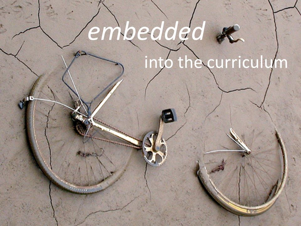 into the curriculum embedded