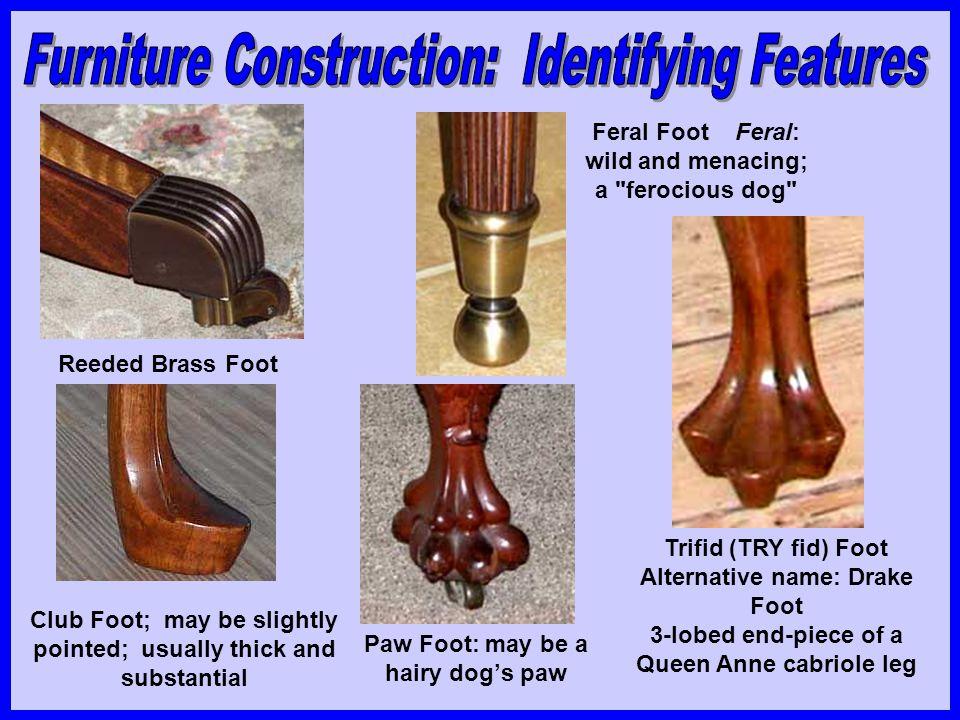 Ogee bracket foot, popular on Queen Anne and Chippendale French bracket foot Spade Foot Hoof Foot Arrow Foot