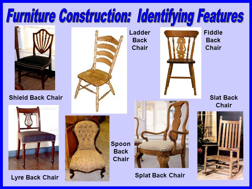 Shield Back Chair Lyre Back Chair Ladder Back Chair Fiddle Back Chair Spoon Back Chair Slat Back Chair Splat Back Chair