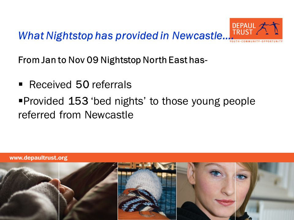 What Nightstop has provided in Newcastle….