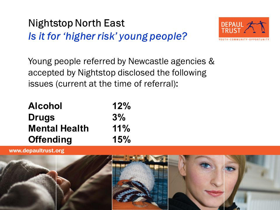 Nightstop North East Is it for higher risk young people.