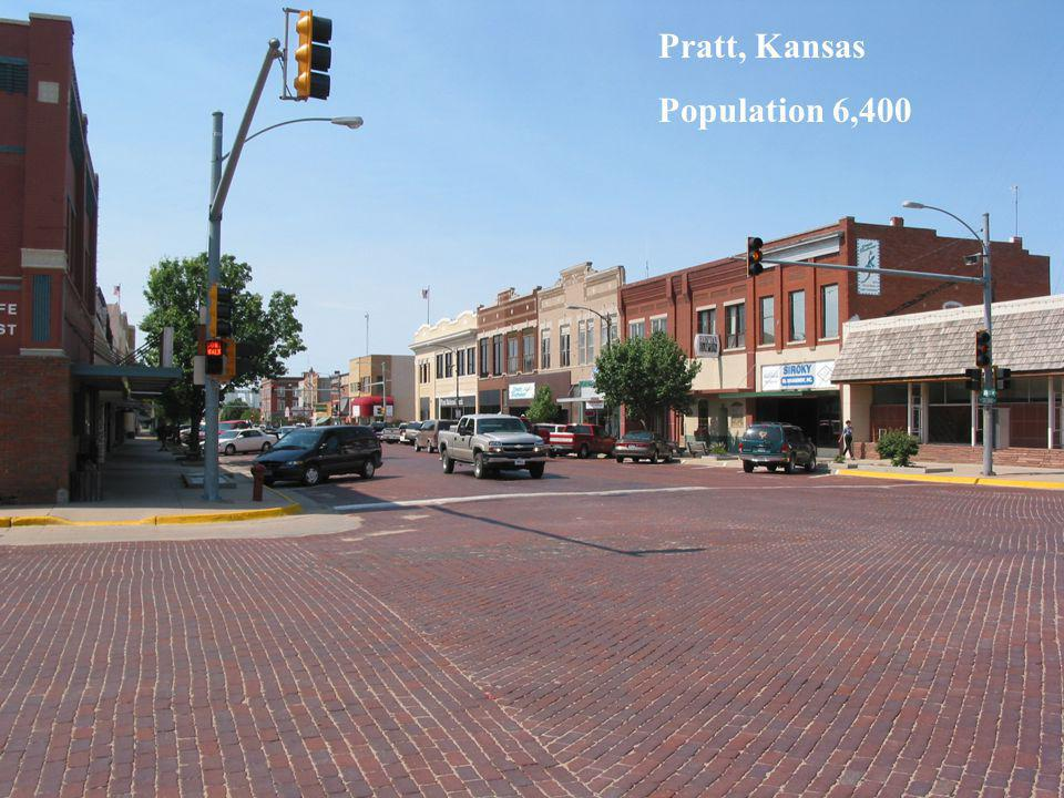 Pratt, Kansas Population 6,400