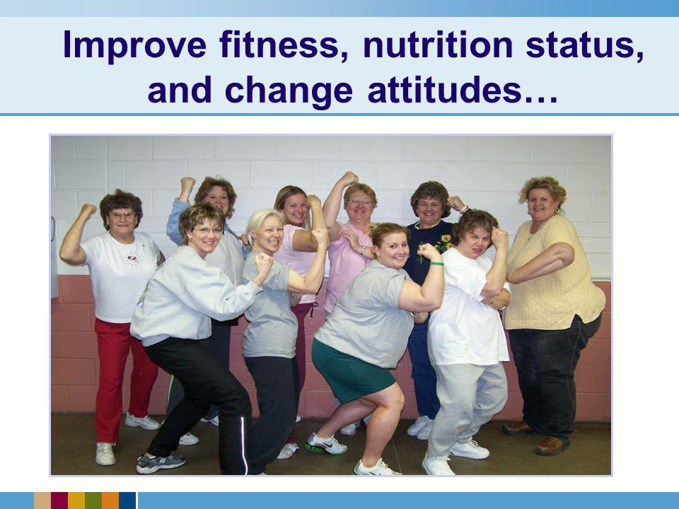Improve fitness, nutrition status, and change attitudes…