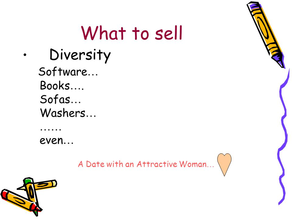 What to sell Diversity Software … Books ….