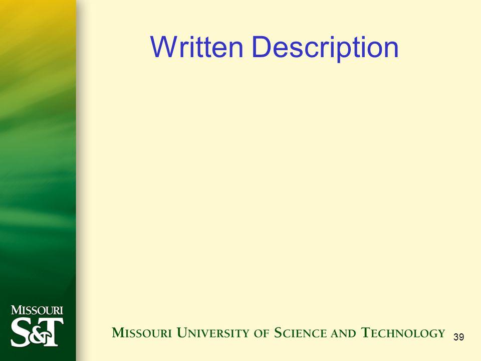 39 Written Description