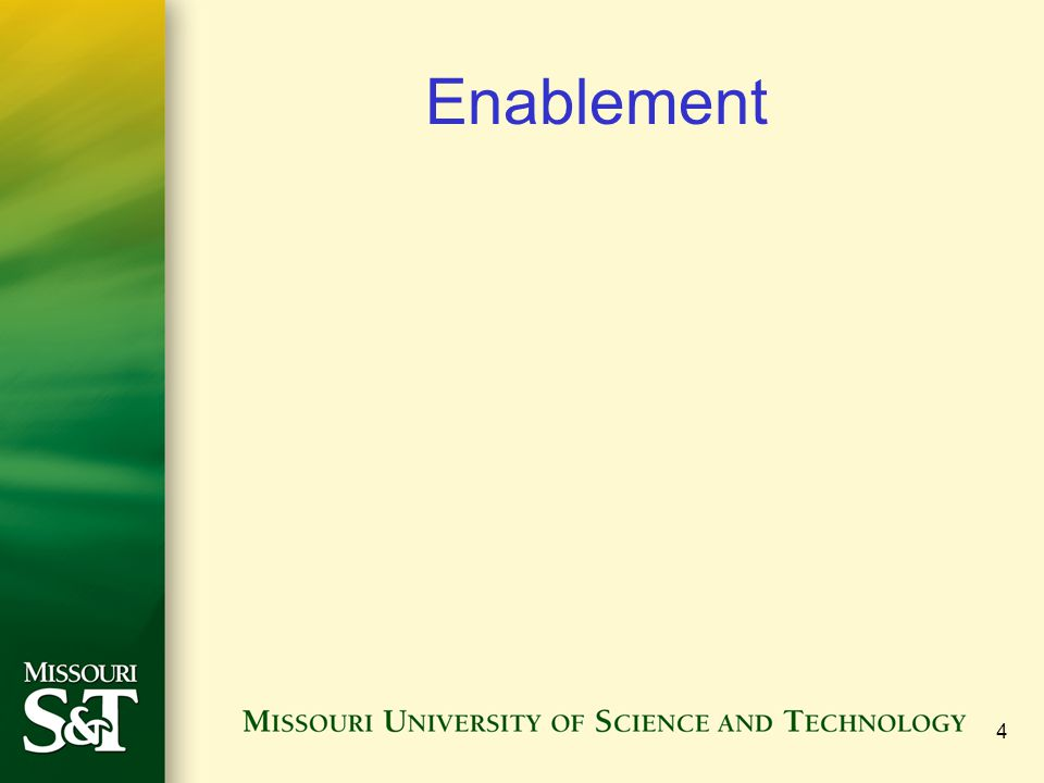 4 Enablement