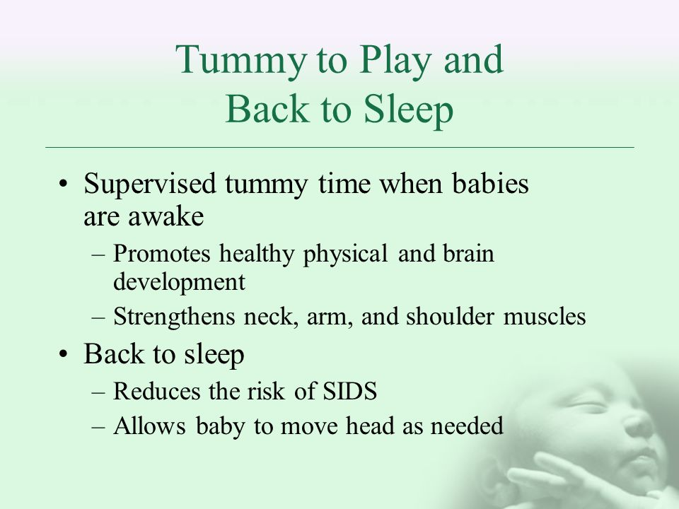 Benefits of Safe Sleeping Save lives of babies Shows parents that health and safety are high priority Educates staff Educates parents Reduces risk of liability