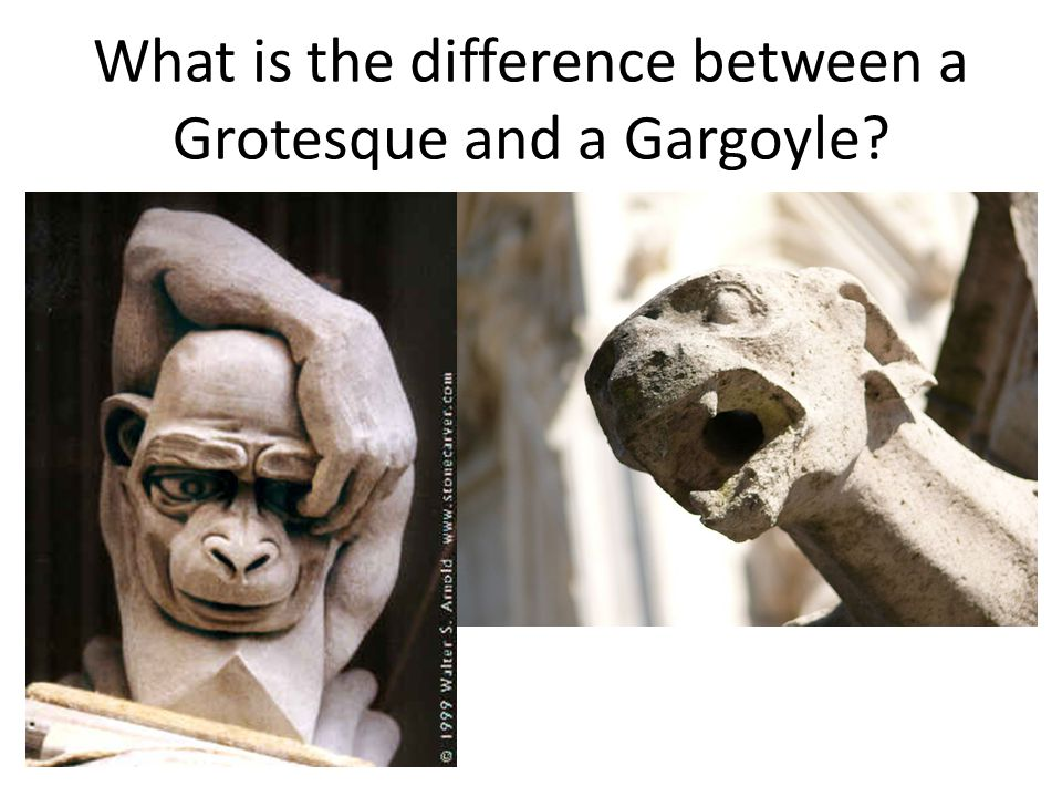 What is the difference between a Grotesque and a Gargoyle