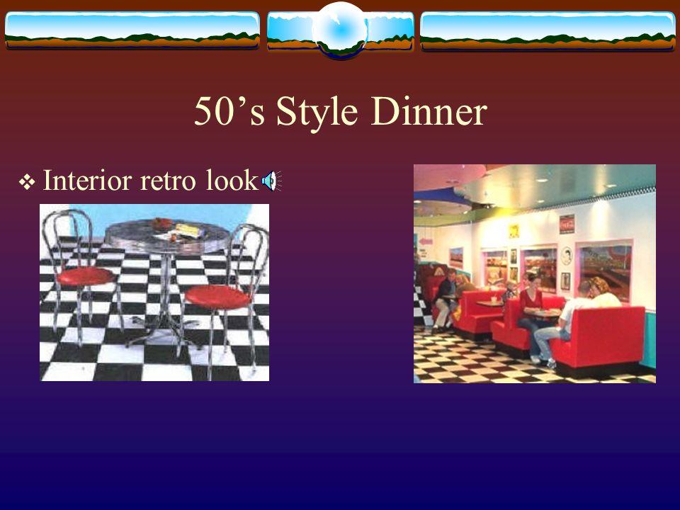 50s Style Dinner Interior retro look