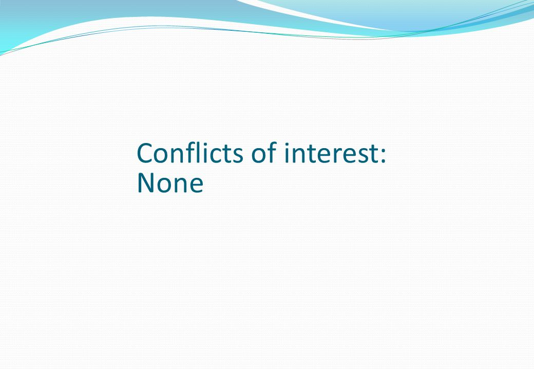 Conflicts of interest: None