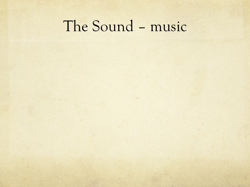The Sound – music