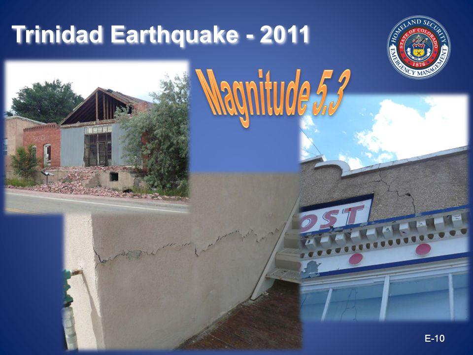 E-10 Trinidad Earthquake - 2011
