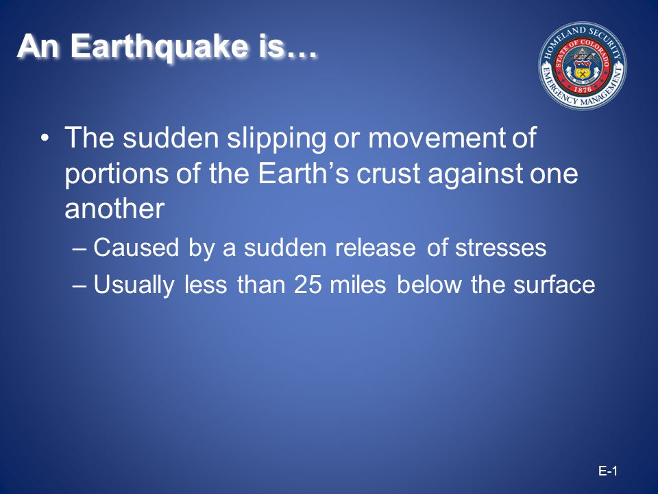 Aftershocks: These are earthquakes which follow the largest shock.