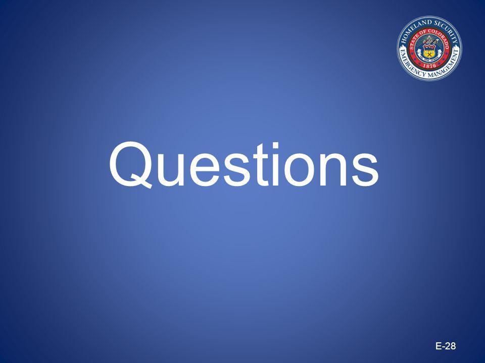E-28 Questions