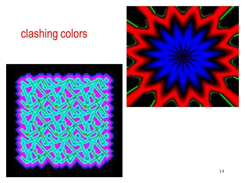14 clashing colors