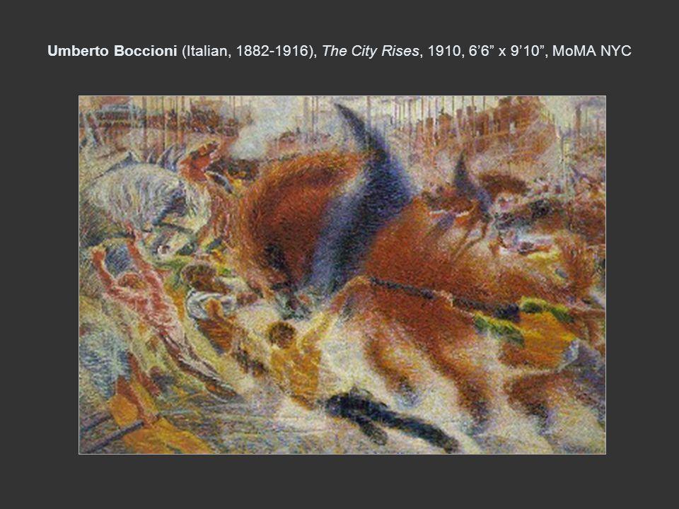 Umberto Boccioni (Italian, 1882-1916), The City Rises, 1910, 66 x 910, MoMA NYC