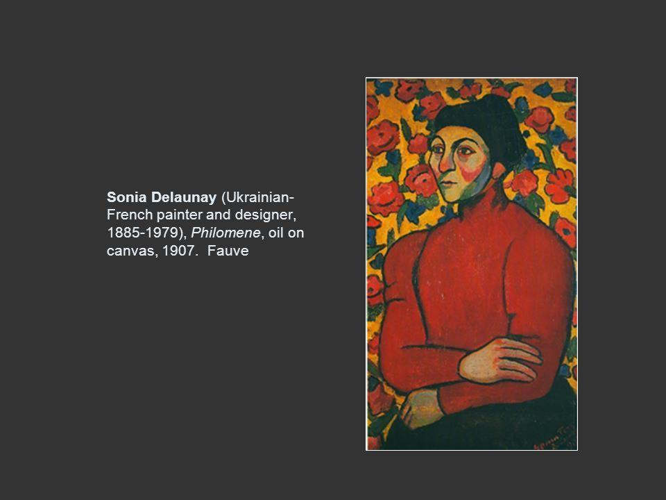 Sonia Delaunay (Ukrainian- French painter and designer, 1885-1979), Philomene, oil on canvas, 1907. Fauve