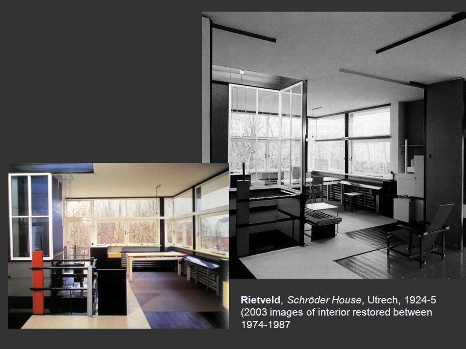 Rietveld, Schröder House, Utrech, 1924-5 (2003 images of interior restored between 1974-1987