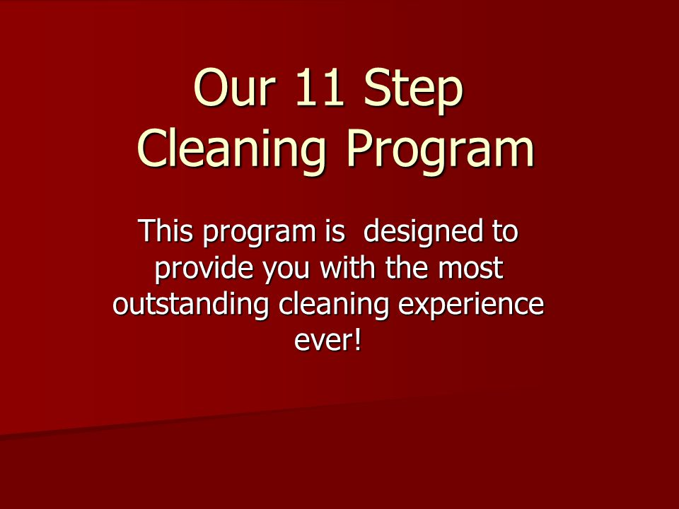 Step 1: Pre-Inspection Please do a walk through inspection with your technician to identify soiling conditions, carpet construction, and potential permanent stains.