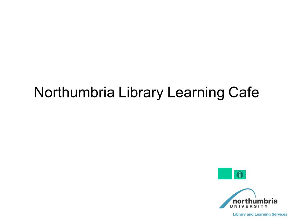 Northumbria Library Learning Cafe