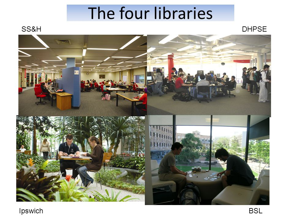 The four libraries SS&HDHPSE IpswichBSL