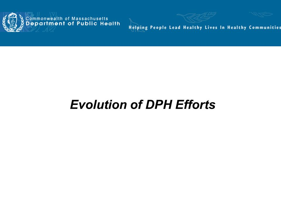 Evolution of DPH Efforts