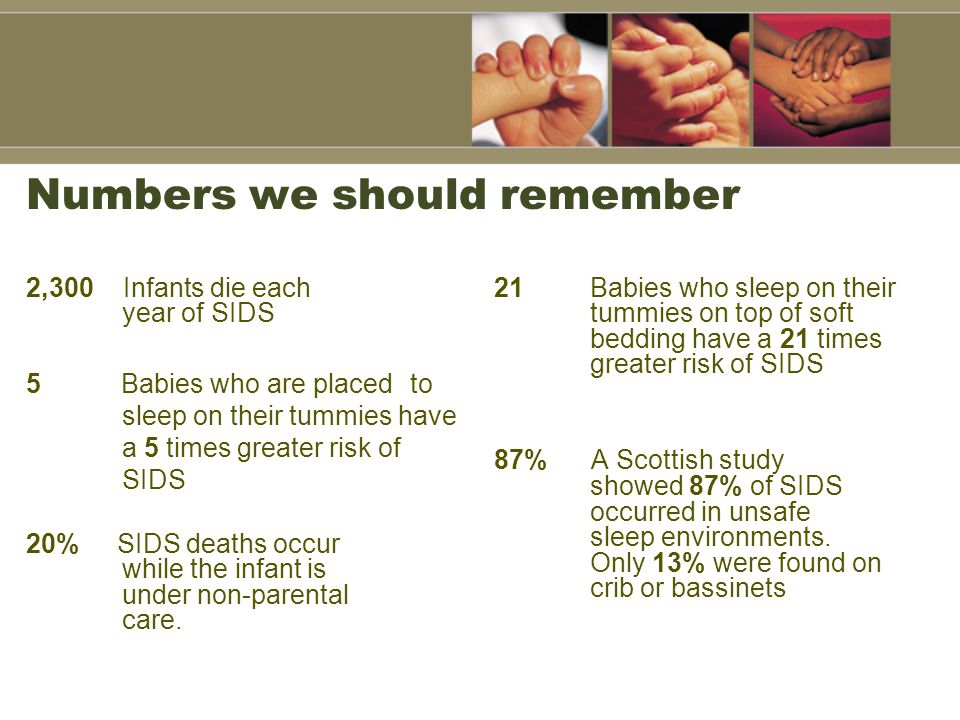 Safe Sleep Practices: Reducing the Risk of SIDS and other related deaths Breast-feeding is recommended.