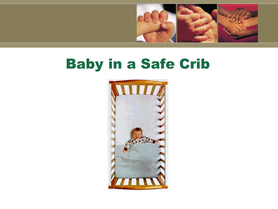 Baby in a Safe Crib