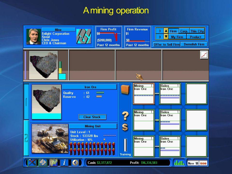 A mining operation