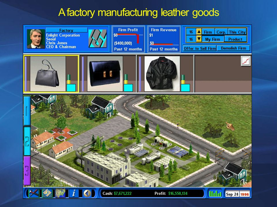 A factory manufacturing leather goods