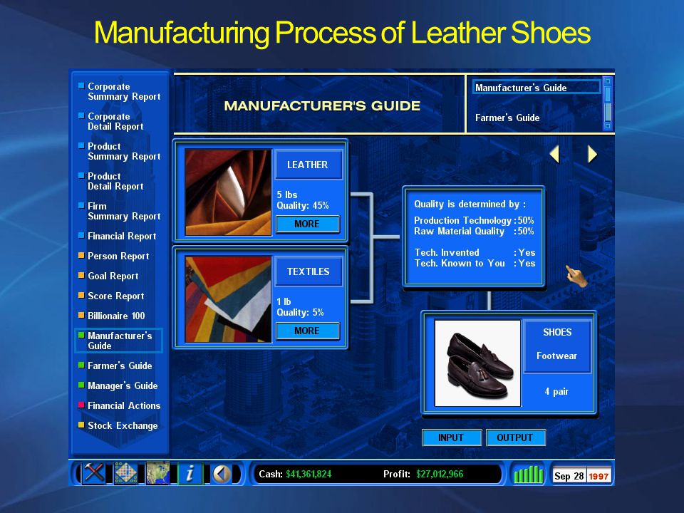 Manufacturing Process of Leather Shoes
