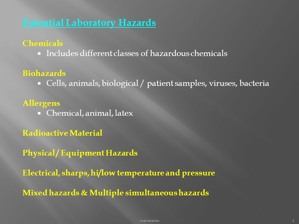 Biohazard: Any agent of biological origin that has the capacity to produce harmful effects in humans.