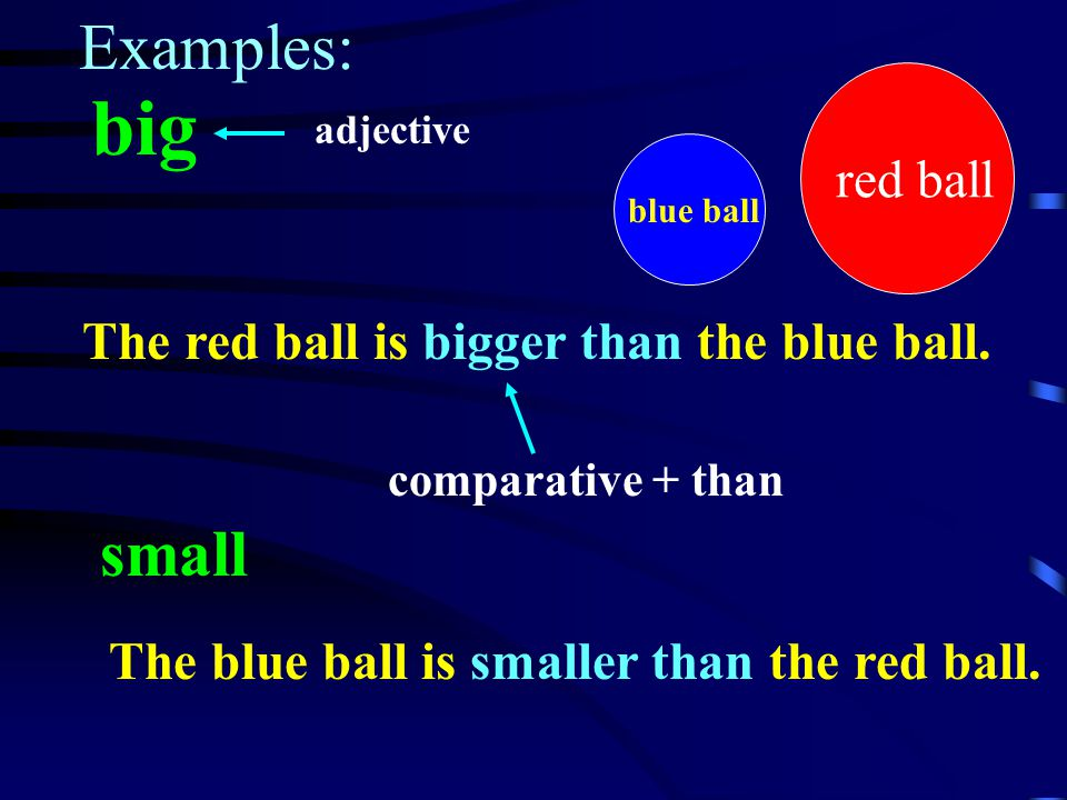 When we compare two persons or things, we use a comparative adjective + than.