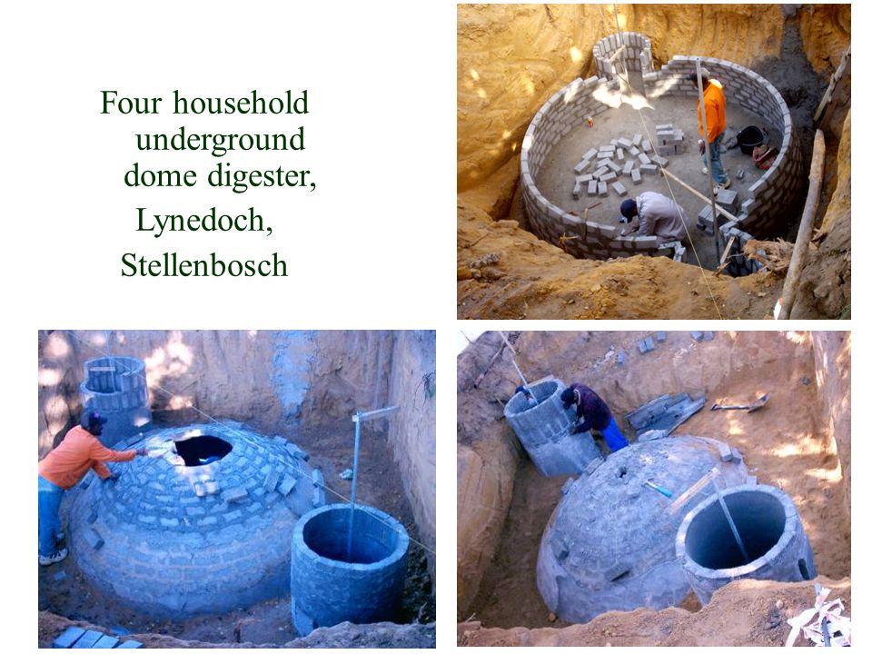 Four household underground dome digester, Lynedoch, Stellenbosch