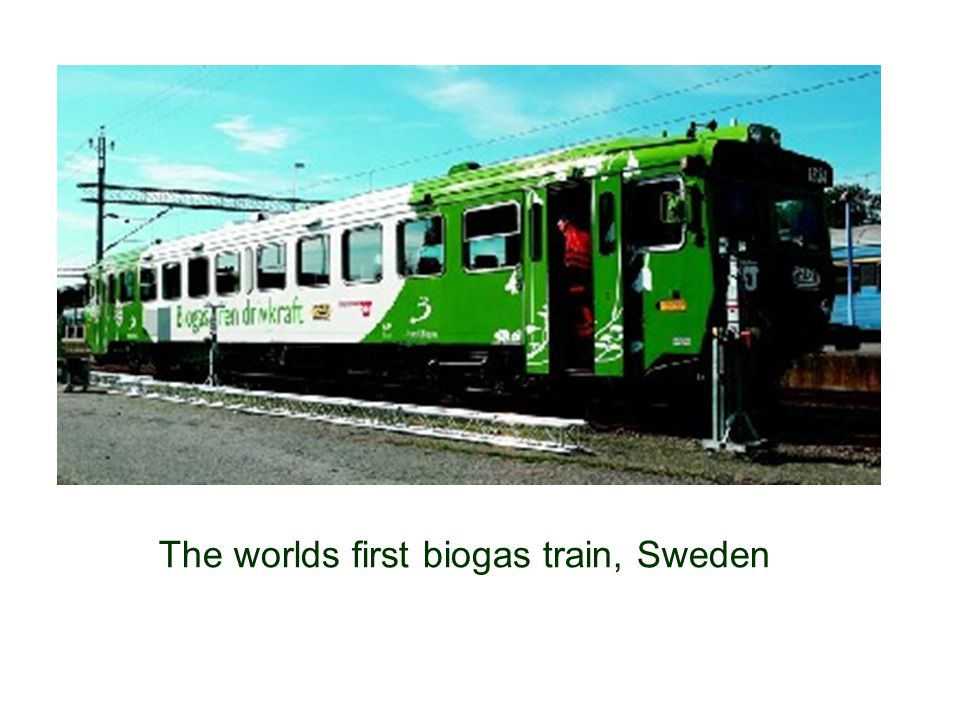 The worlds first biogas train, Sweden