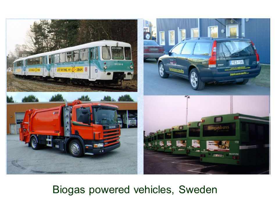 Biogas powered vehicles, Sweden