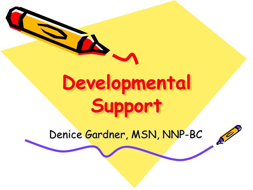 Developmental Support Denice Gardner, MSN, NNP-BC