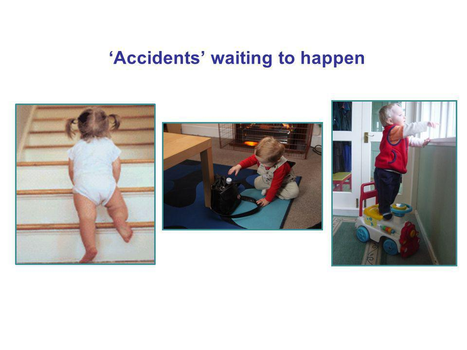 Falls in under 5s - Causes Stairs and steps Falling from furniture (sofas, bunk beds, high chairs) Falling from beds when having nappies changed Baby walkers Climbing routes