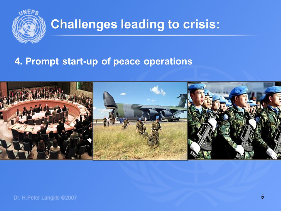 6 5. Addressing human needs in emergencies Challenges leading to crisis: