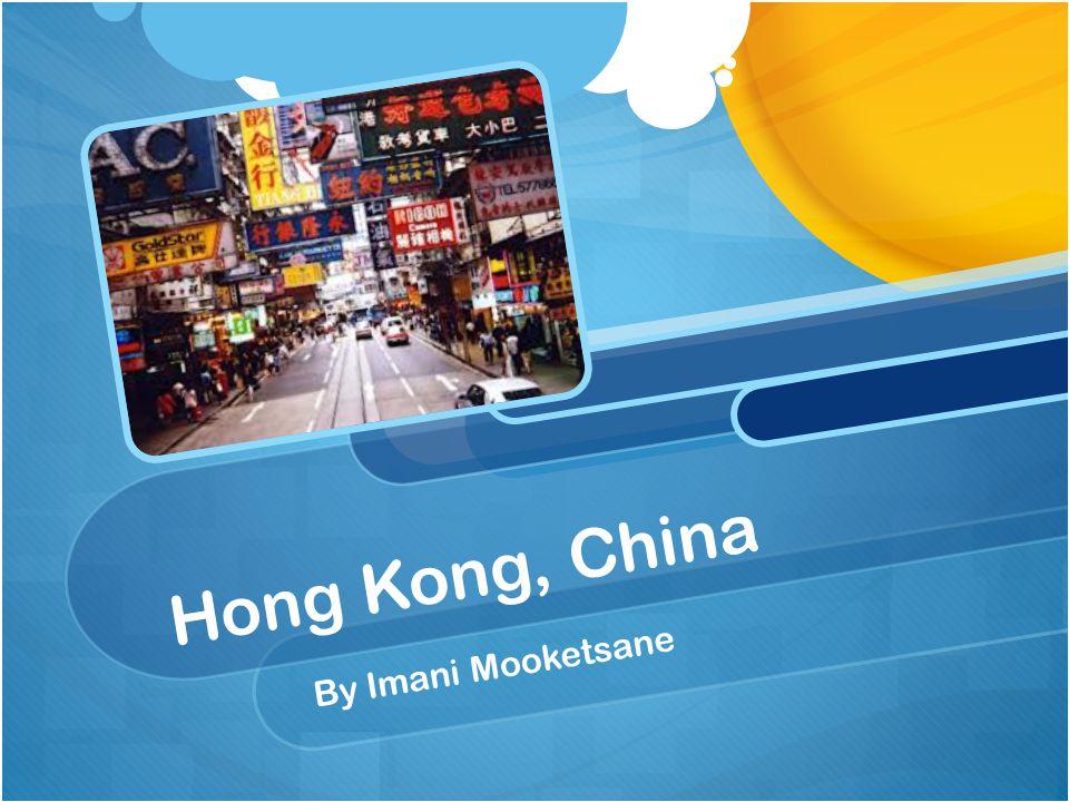 Hong Kong, China By Imani Mooketsane