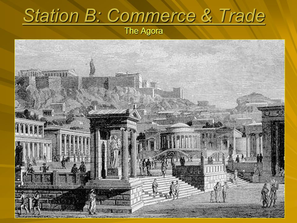 You are at a shop in the Agora, the place where Athenians gather to buy and sell goods.