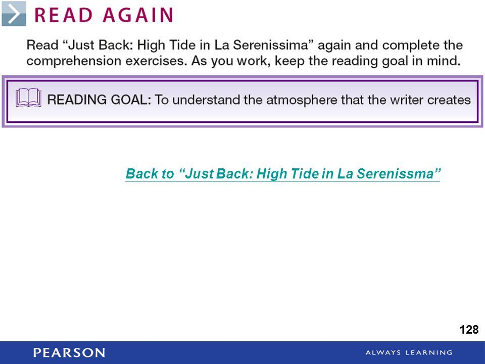 128 Back to Just Back: High Tide in La Serenissma