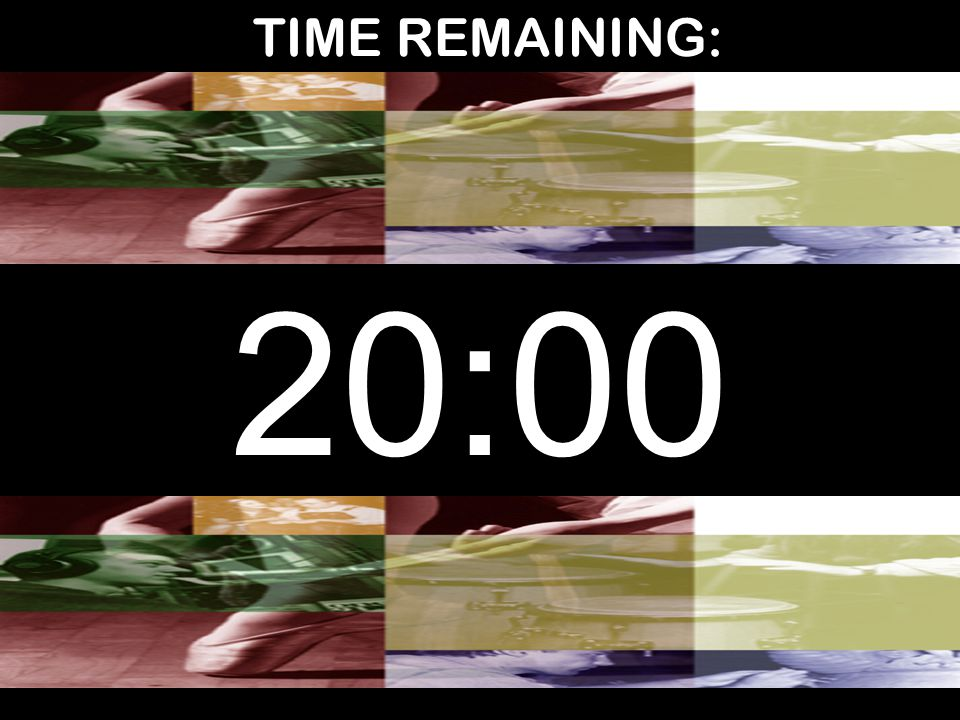TIME REMAINING: 20:00