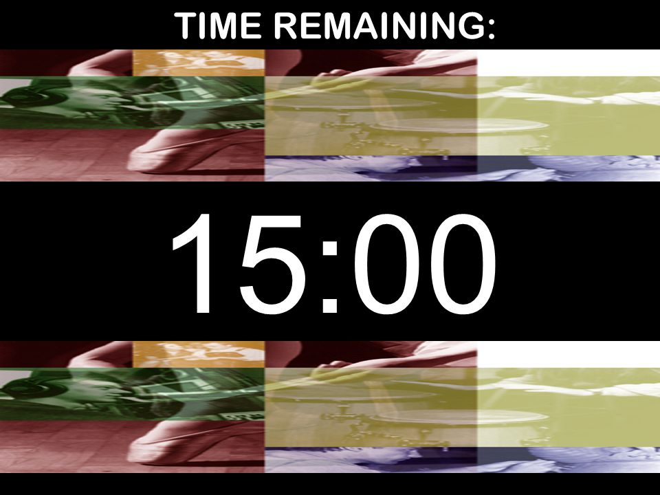 TIME REMAINING: 15:00