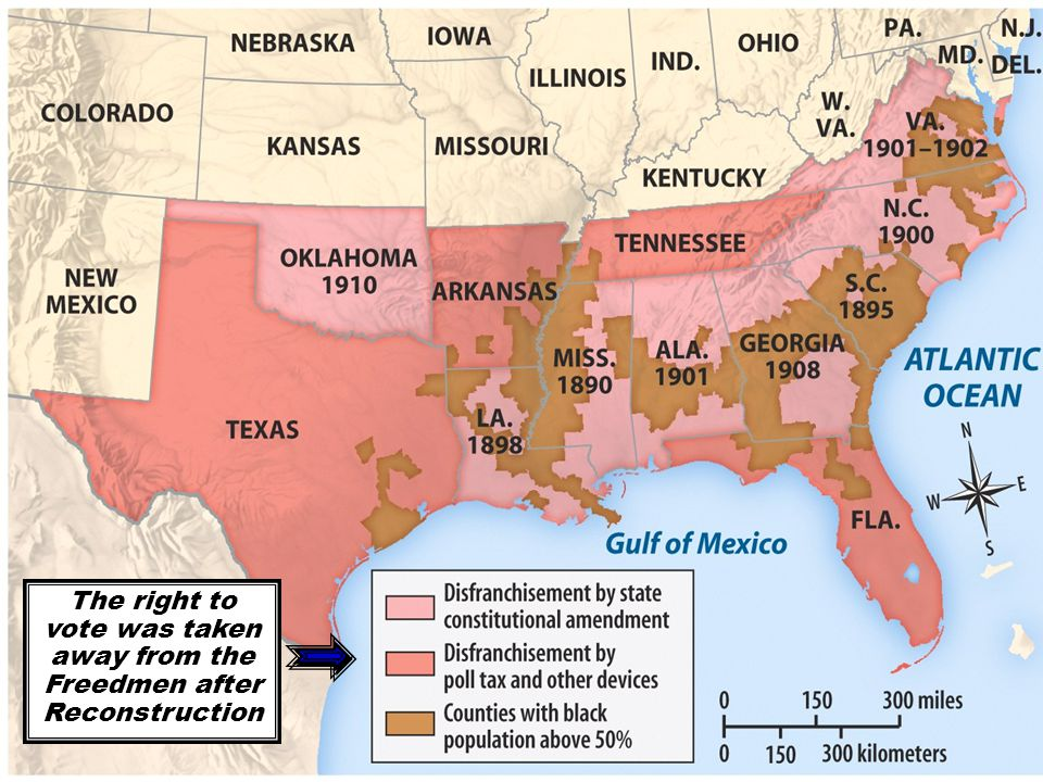JC laws/map Segregated 1% of Blacks integrated Less than 5% integrated 25% or more integrated